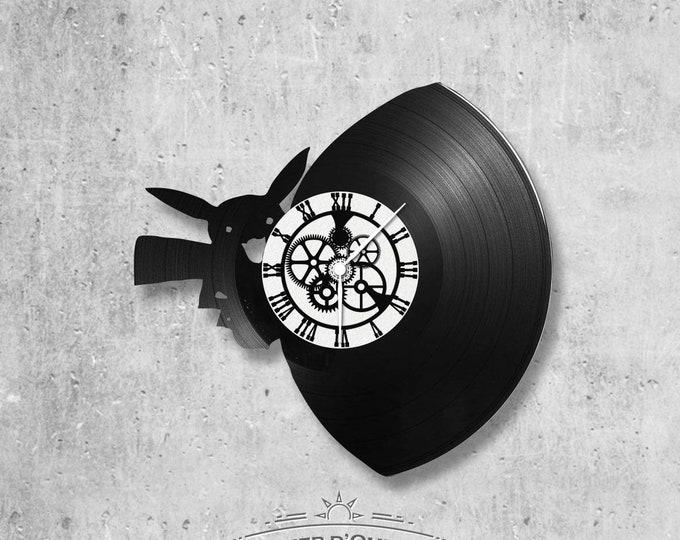 Vinyl disc clock 33 rounds Pokemon Pikachu theme