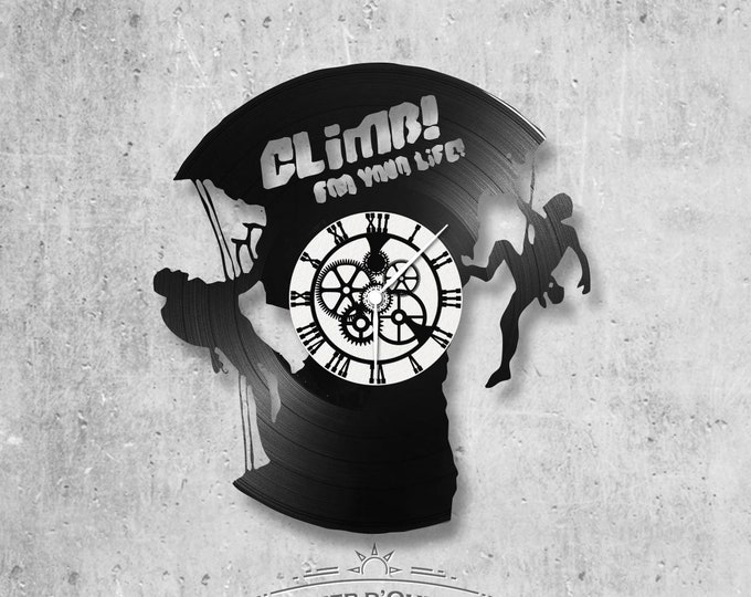 Vinyl 33 clock towers climb rock climbing theme for life