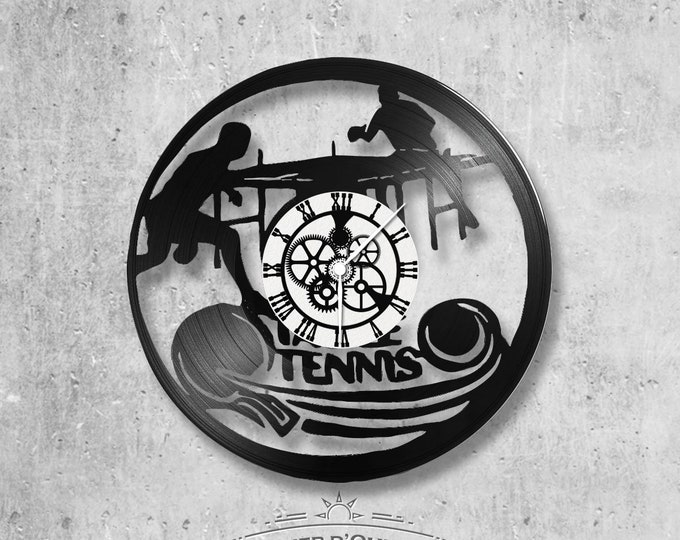 Vinyl record clock 33 rounds Ping-Pong theme