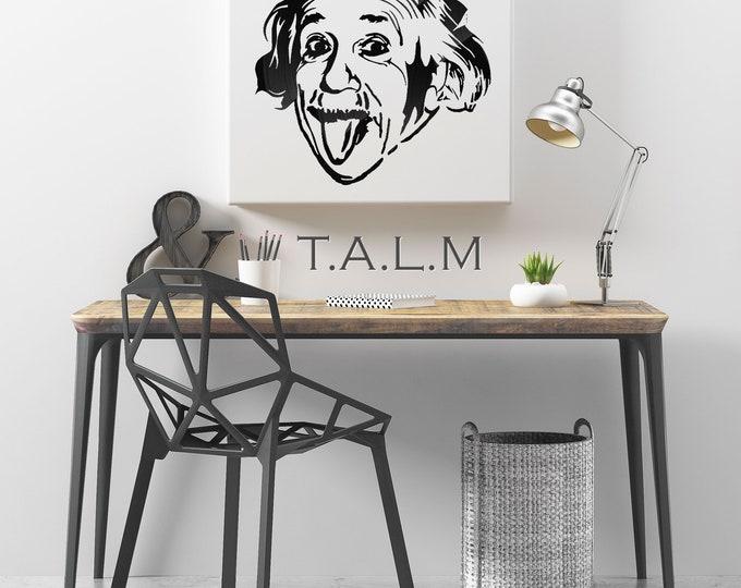 Web - table carvings Albert Einstein vinyl records