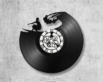Vinyl 33 clock towers Surf theme