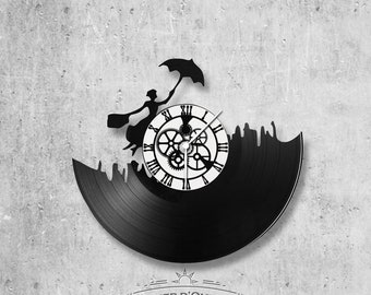 Vinyl 33 clock towers Mary Poppins theme