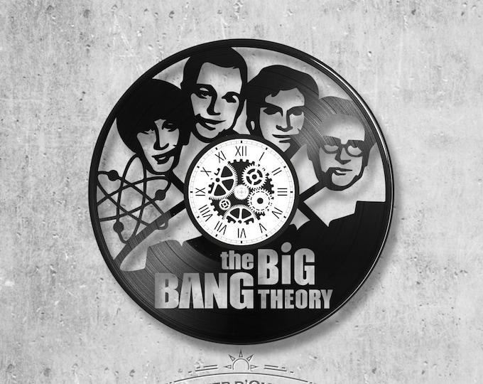 Vinyl record clock 33 rounds theory Big Bang theme