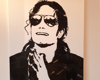 Michael Jackson vinyl canvas