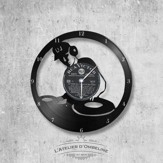 chanteur Horloge murale en vinyle 33 tours fait-main//th/ème Charles Aznavour Halliday Sardou
