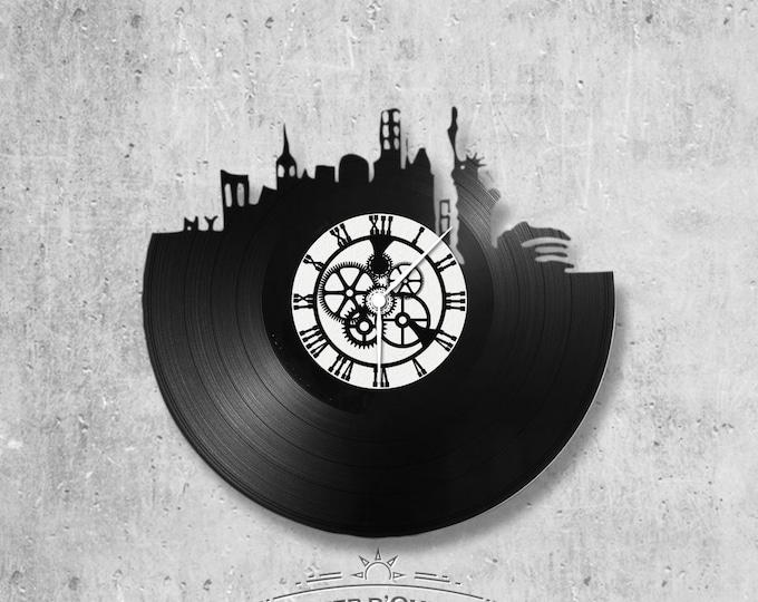 Vinyl 33 clock towers New York City