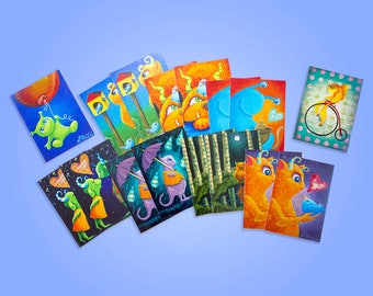 Kids Memory Card Game Printable PDF - Monsters and Aliens - Print and Make Children's Toy DIY