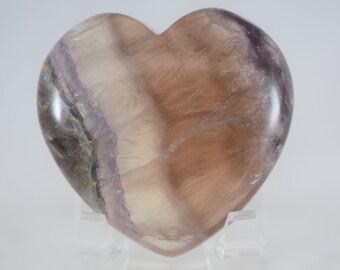 Large Rainbow Fluorite Heart