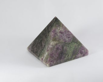 Black, Pink & Green Tourmaline Pyramid