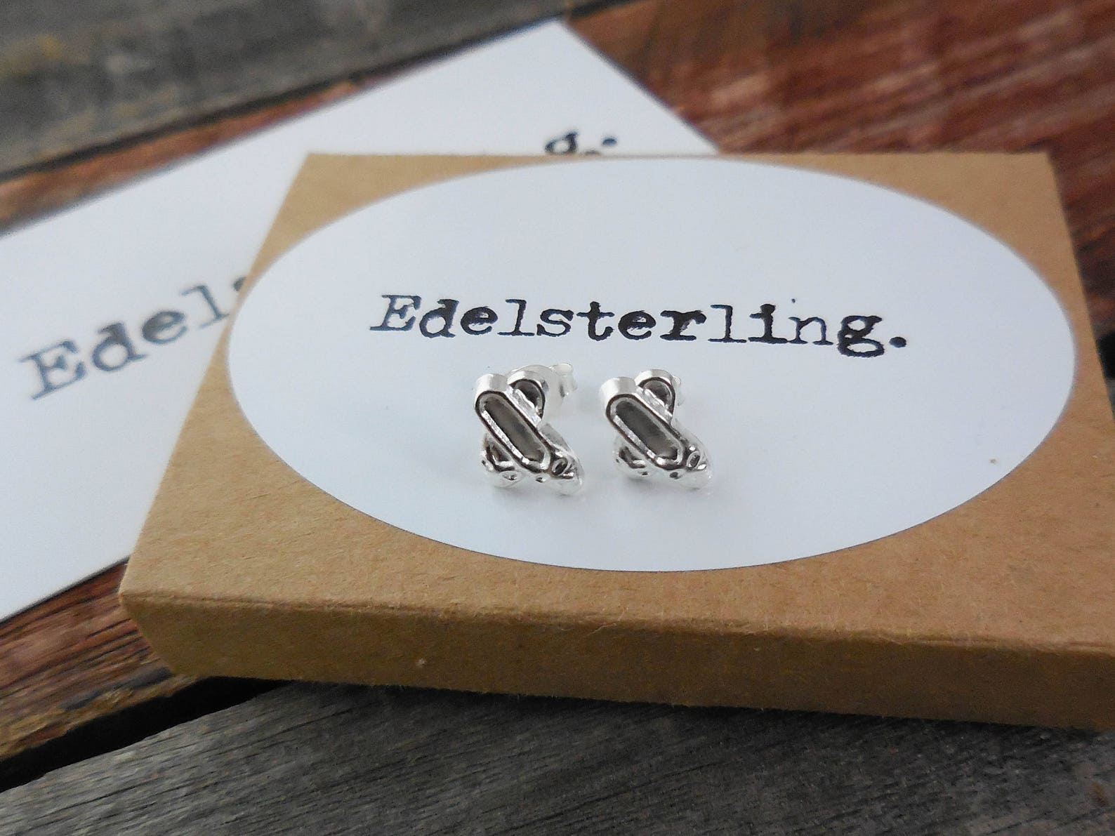925 sterling silver ballet shoes stud earrings, ballet, pointe shoes, dancer for child, ballet recital gifts, dance shoe earring