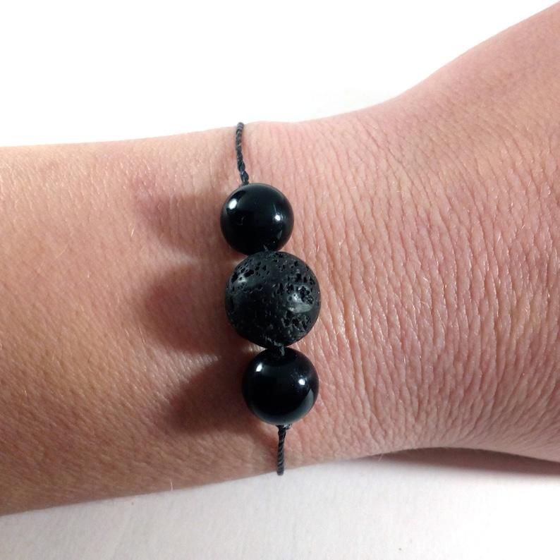 lava jewelry aquamarine jewelry March birthstone aromatherapy jewelry Lava bracelet rebirth anklet Aquamarine bracelet courage choker