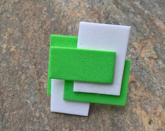Green and white rubber ring