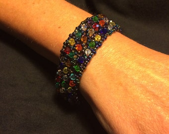 Number 8 Right angle hand woven bracelet by Maine Artist Amber Martin
