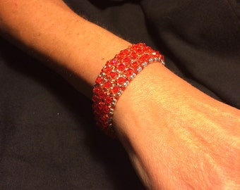 Number 1 Right angle hand woven bracelet by Maine Artist Amber Martin