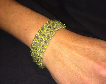 Number 20 Right angle hand woven bracelet by Maine Artist Amber Martin