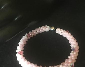 NO 302 Hand Beaded Coil Bracelet
