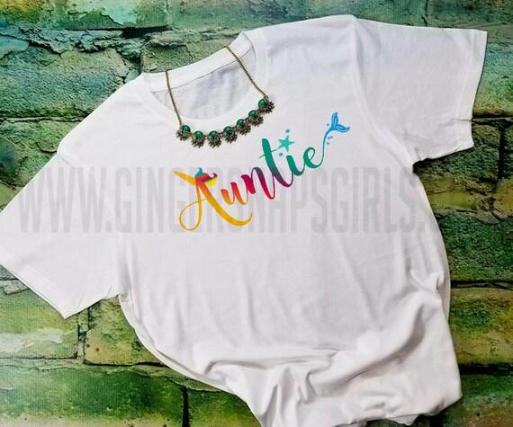 2f8e253bb Auntie Unicorn Mermaid Rainbow vintage style triblend short | Etsy
