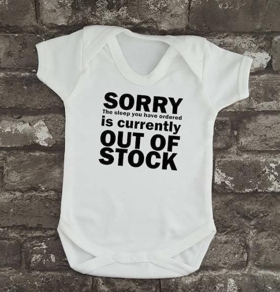 Funny No Sleeping Baby Onesies baby Shower Gift Set Newborn Funny New Baby Gift