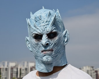 Back To Search Resultshome A Song Of Ice And Fire Game Of Thrones Season 8 White Walkers Night King Mask Cosplay Full Head Helmet Latex Halloween Mask Prop