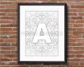A - Z Printable Mandala A...