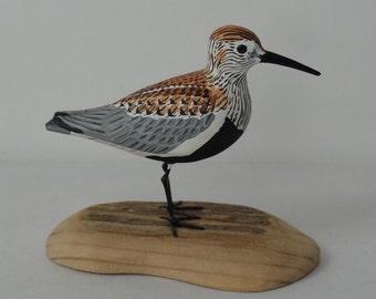 Dunlin / Calidris alpina - handmade sculpture