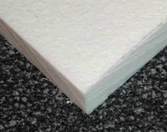 2 PIECES White King Starboard HDPE  Plastic Sheet 1 1//2 x 4 x 10