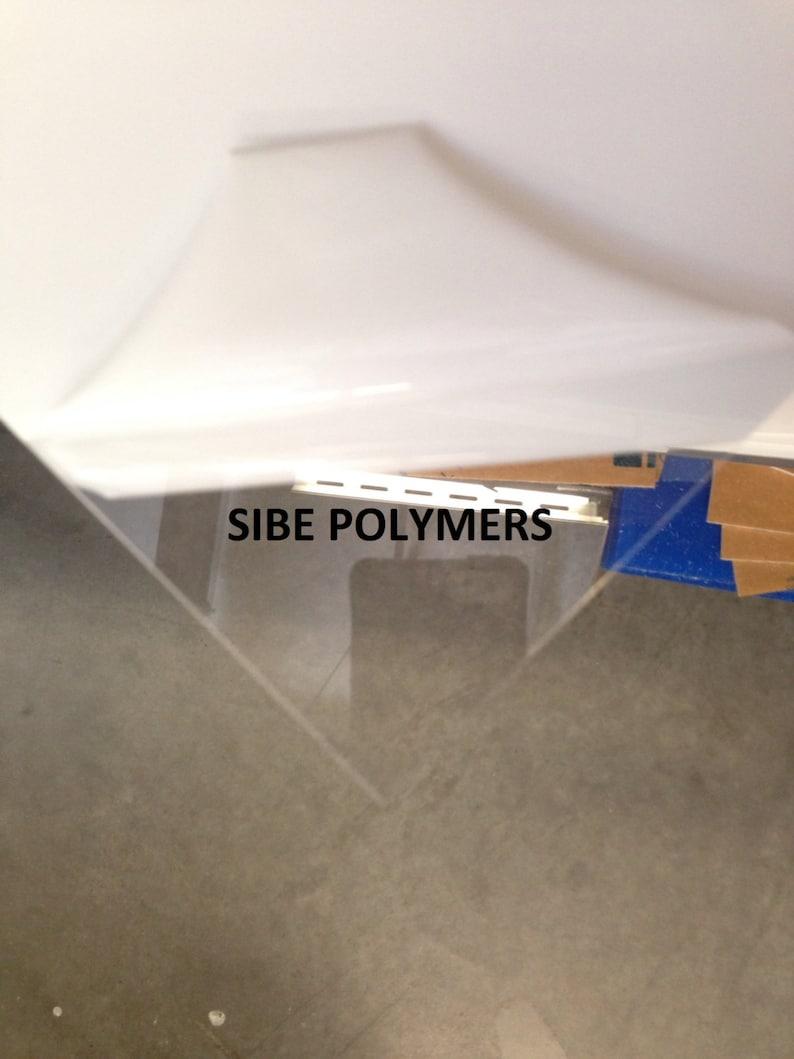 "7/""x16/""x 1//8/"" CLEAR Acrylic Sheet Rigid Plastic Plexiglass Craft Supplies USA 1"