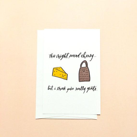 Christmas Cheese Puns.Cheese Pun Card Pun Funny Romantic Anniversary Card Husband Wife