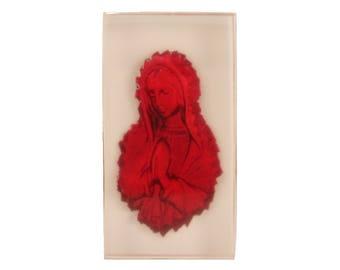 The Virgin Mary resin bas relief