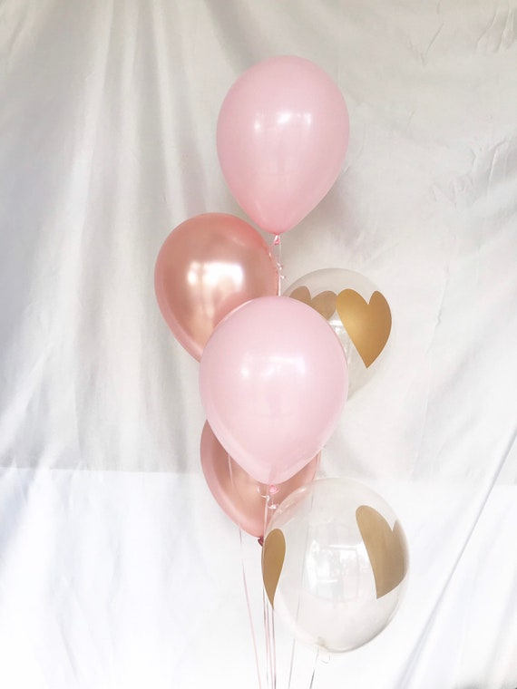Baby Shower Balloons Valentines Balloons Anniversary Balloons Gold Party Galentines Gold Heart Balloons Bridal Shower Decor