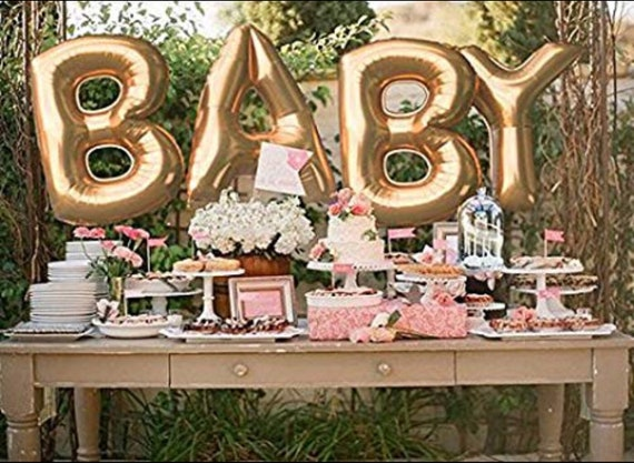 Baby Shower Letter Balloons.Baby Balloons 40 Inch Letter Balloons Letter Balloons Gold Rose Gold Silver Letters Baby Shower Balloons