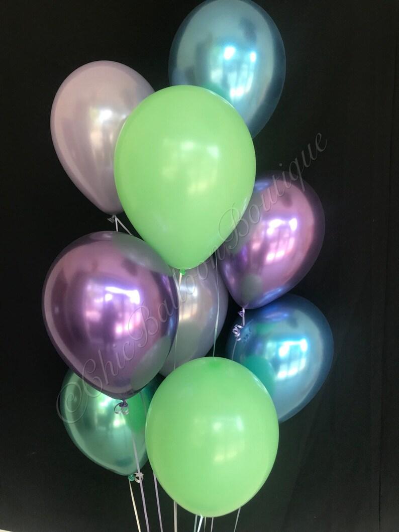 """18/"""" Unique Joyeux Anniversaire Hélium Ballon Sirène Mer Chevaux"""
