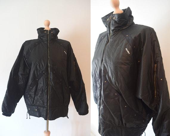 Vintage KITEX Black Oversized Jacket | 80s Bomber
