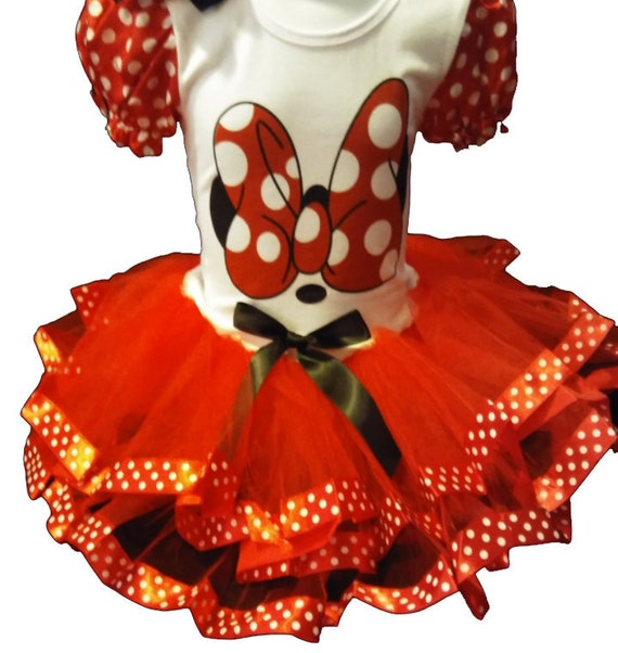 Minnie Mouse Birthday 2 Year Old Red Party Dress Girl Baby