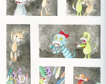 Zombie Sock Monkeys