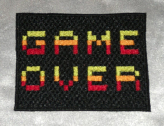 """Embroidered Classic Meeple Board Gamer Bright Orange 3.5/"""" Patch Sew On Iron USA"""