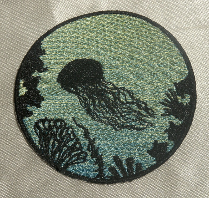 Beauty of Ocean  Embroidered Iron On Patches