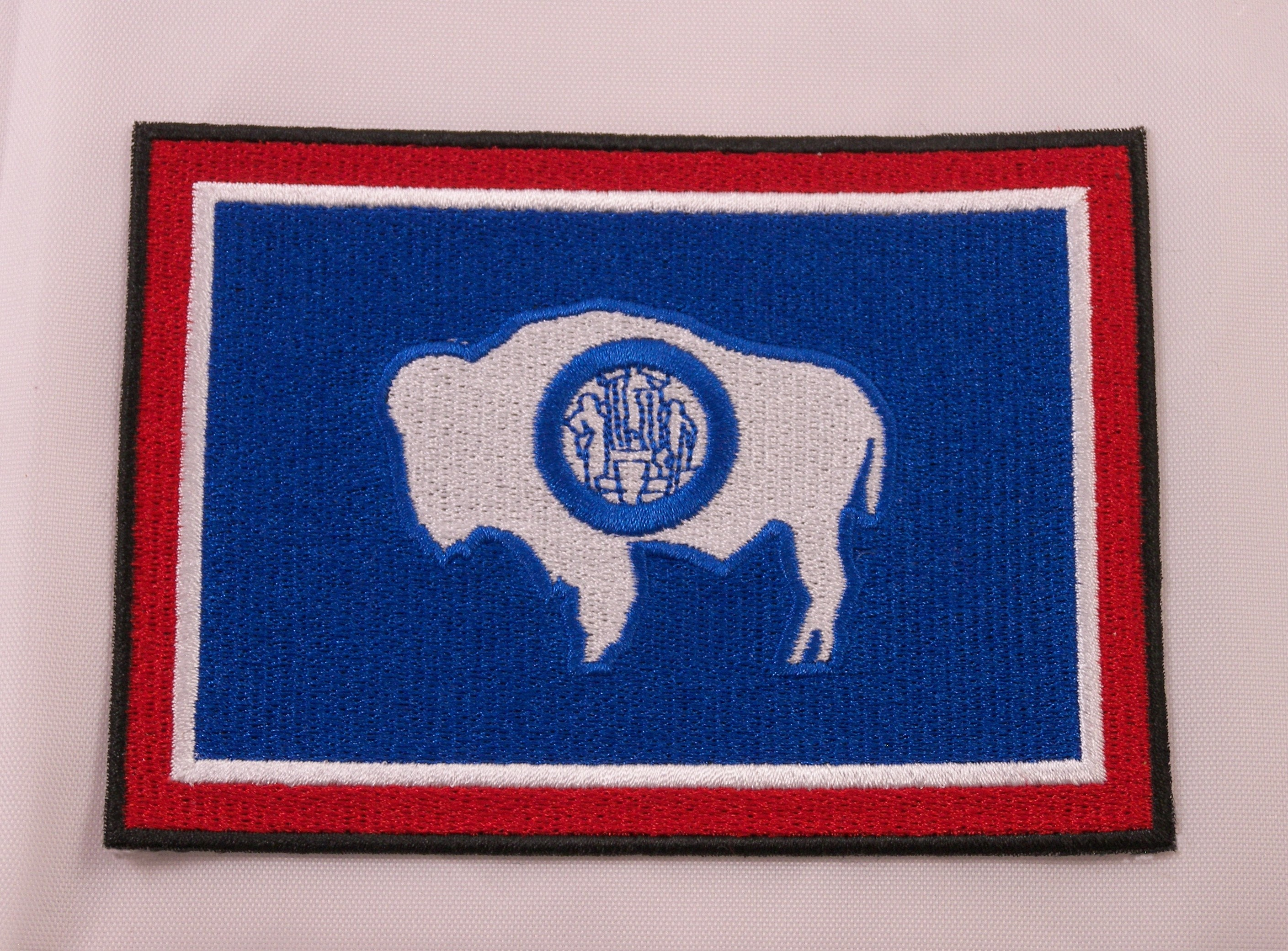 WYOMING STATE FLAG embroidered iron-on PATCH EMBLEM WY