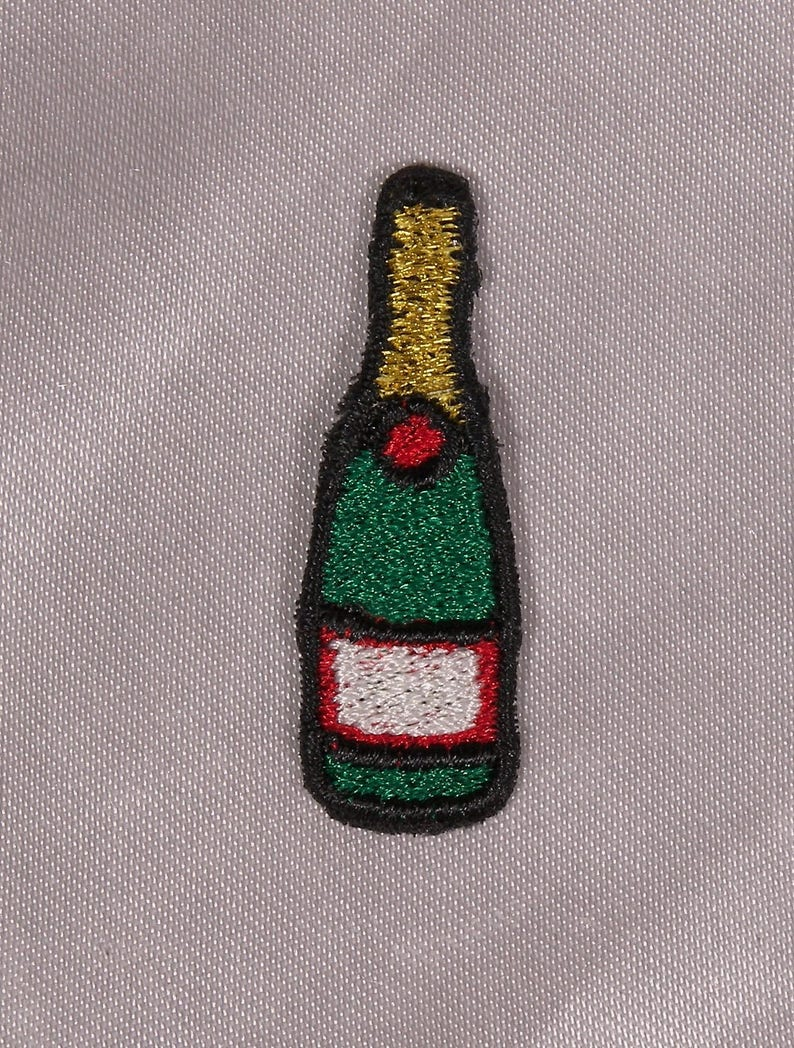 Green Happy 50th Birthday champagne Bottle Label celebrazione regalo per donne e uomini.