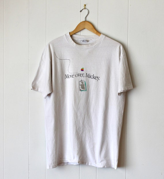 """1984 Apple Computer """"Move over, Mickey"""" T Shirt"""