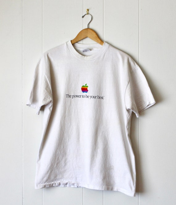 """1986 Apple Computer """"The power to be your best"""" T-"""