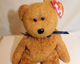46df9936da6 Ty ORIGINAL Beanie Baby Retired Rare Fuzz the Bear Error MINT