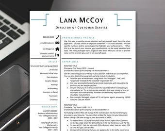 Resume Template - Professional Resume Template, Modern Resume Template, Resume Template Word - RESUME TEMPLATE iNSTANT dOWNLOAD