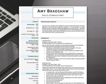Resume Template - Professional Resume Template, Modern Resume Template, Resume Templates Word - RESUME TEMPLATE iNSTANT dOWNLOAD