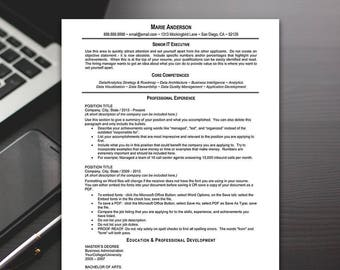 Resume Template - Classic Resume Template, Word, Professional Resume Template, Resume Templates - RESUME TEMPLATE iNSTANT dOWNLOAD