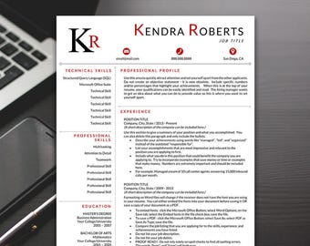 Resume Template - Modern Resume Template, Professional Resume Template, Resume Template Word - RESUME TEMPLATE iNSTANT dOWNLOAD
