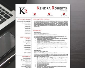 Professional Resume Template - Modern Resume Template, Word Resume Template, Resume Templates - RESUME TEMPLATE iNSTANT dOWNLOAD