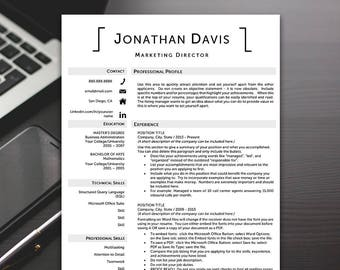 Professional Resume Template - Resume Template Professional, Modern Resume Template, Resume Templates - RESUME TEMPLATE iNSTANT dOWNLOAD