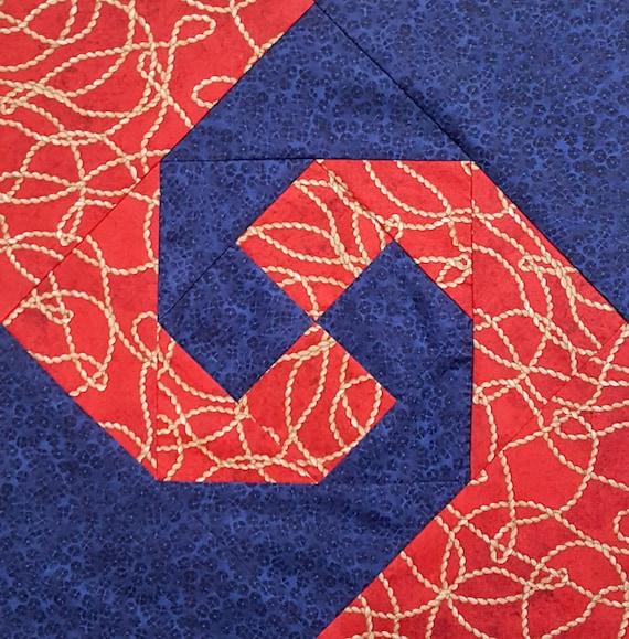 Snails Trail Quilt Block Pattern Etsy