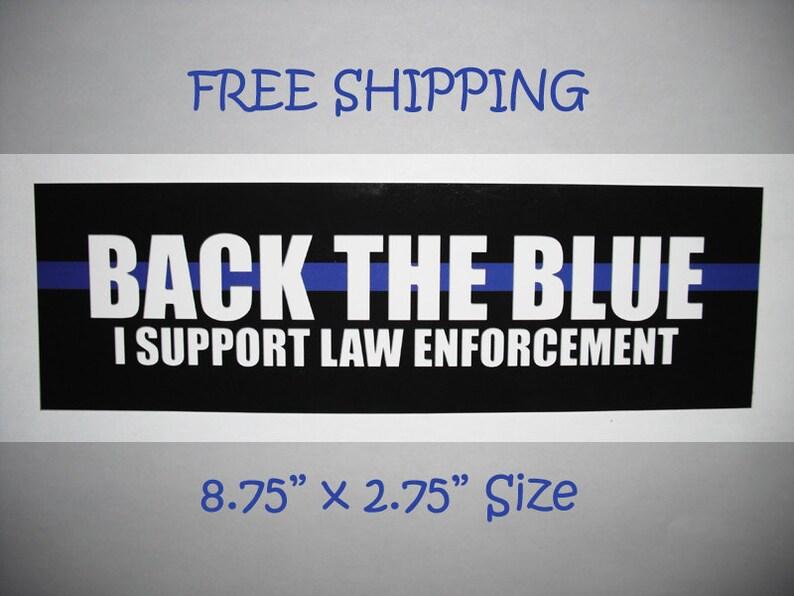 Back the Blue Blue Lives Matter Bumper Sticker 4 PACK Decal Thin Blue Line